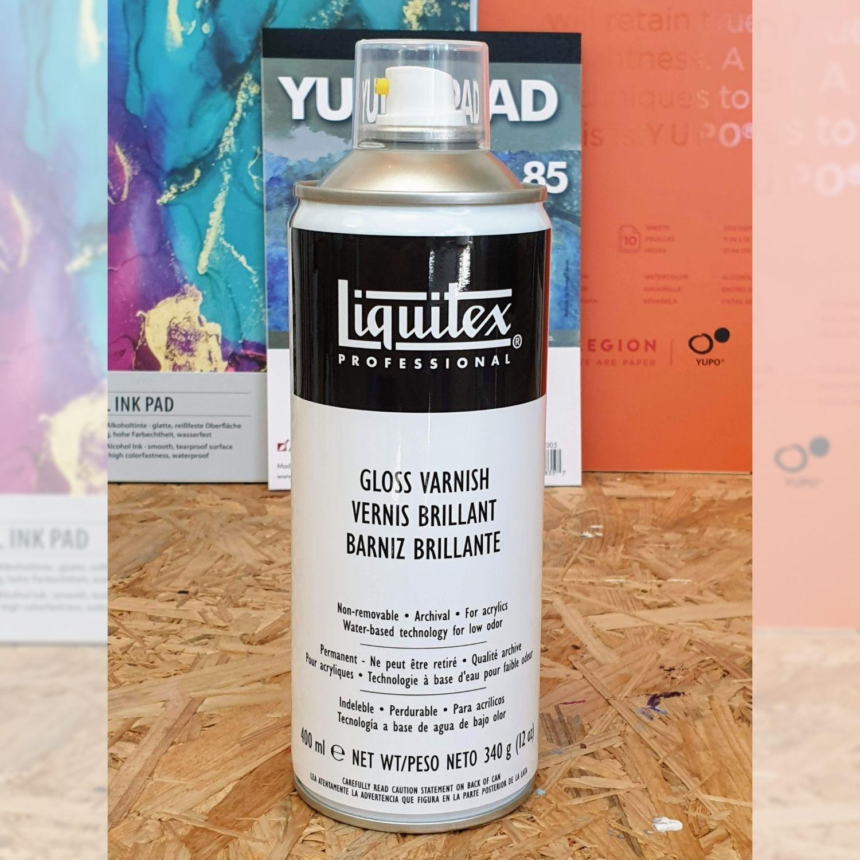 Liquitex-Professional Gloss Varnish Spray zur Versieglung von Alcohol Ink Werken